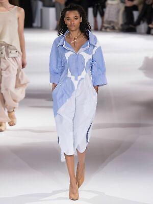 $1150 STELLA MCCARTNEY STRIPE CIRCLES POPLIN SHIRT DRESS IN MULTI BLUE SIZE 36 2