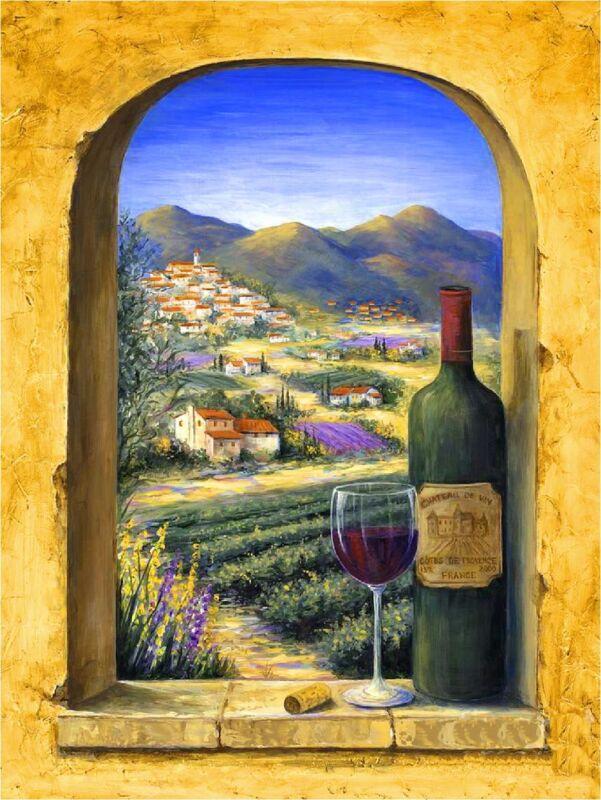 Provence Vineyards Wine France French European Travel Art Poster Advertisement
