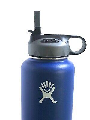 Hydro Flask Straw Lid Fits all Wide Mouth 18 oz, 32 oz, 40 oz 64 oz, Grey/Black
