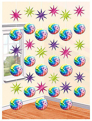 70's Theme Decorations (70's Disco Fever String Decoration Birthday Theme Party Decoration Supplies)