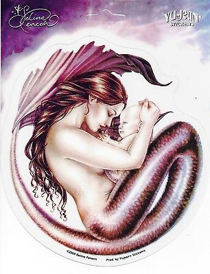 MOTHERHOOD Mermaid & Baby Sticker Car Decal Selina Fenech fairy faery faerie