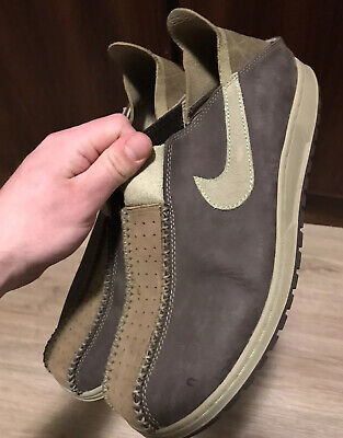Original Nike ACG Brown Leather Convertible Mule Shoes Slip Ons Size 12 Mens