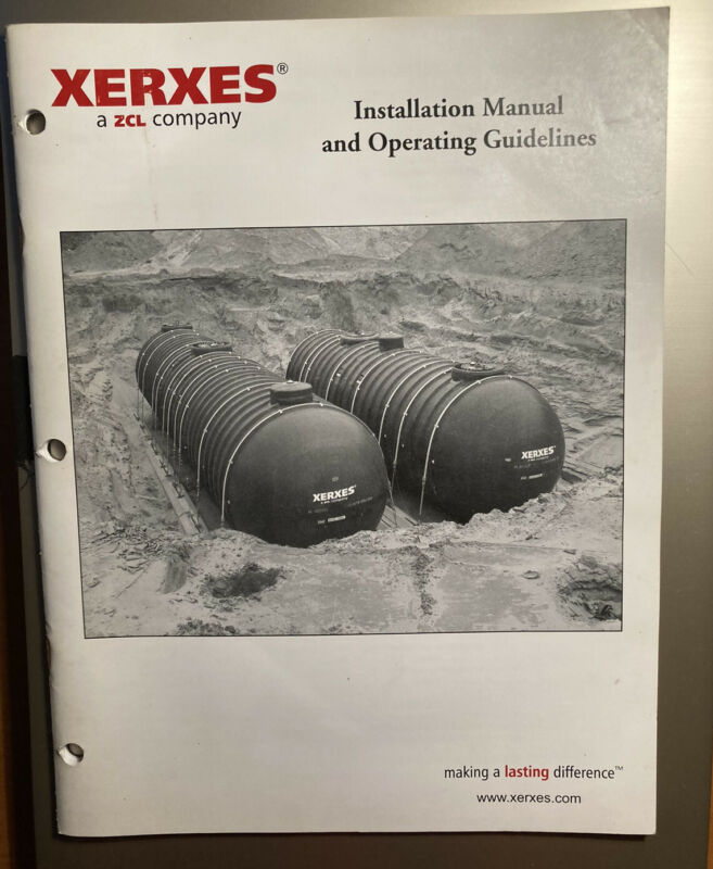 XERXES ZCL INSTALLATION MANUAL & OPERATING GUIDELINES UNDERGROUND STORAGE TANKS