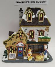 """Ceramic lighted Christmas village """"Bakery"""" Hand painted 7 ..."""