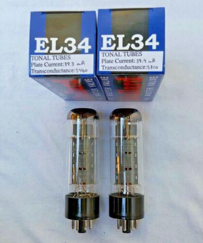 New 2x Mullard EL34   Matched Pair / Duet / Two Tubes   Free Ship