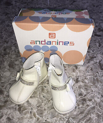 andanines baby girls shoes BNIB RRP £51 uk 2 Eu 18