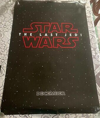 Star Wars The Last Jedi 27 X 40 Advance One Sheet Poster~Lucasfilm~D23 Expo