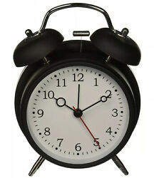 HITO Silent Analog Alarm Clock Vintage Retro Classic Night Light Extra Loud Bell