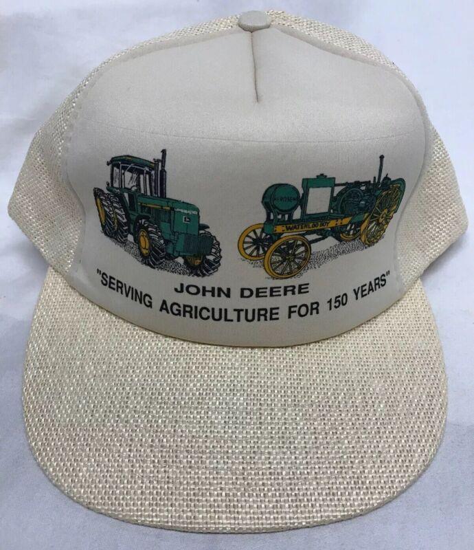 NWOT 80s John Deere 150 Years Snapback Hat Deadstock Vintage Crownco Colorama