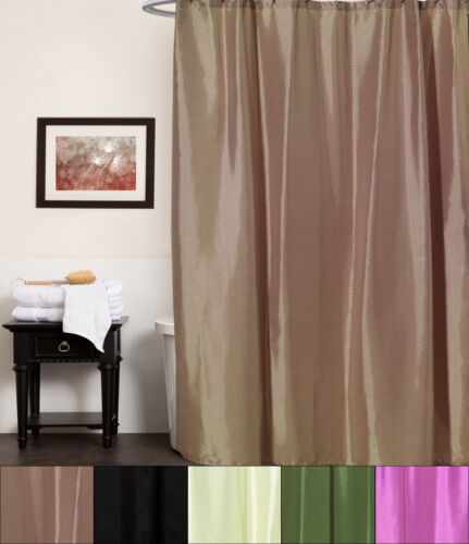 Lauren Embossed Diamond Pattern Polyester Fabric Bath Shower Curtain 70″x72″ Bath
