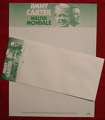 Jimmy Carter for President 1976 original campaign letterhead w/ envelope RARE