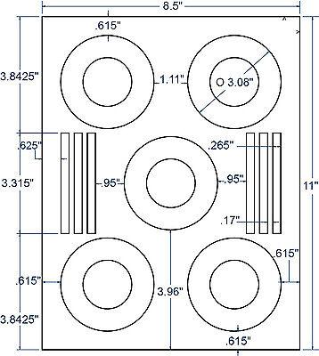 3 Diameter Perm Cddvd Stomper Mini Labels Compulabel 100 Sheet 312838