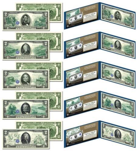 1914 Federal Reserve Bank Notes Hybrid Commemorative - Set of 5 Modern $2 Bills