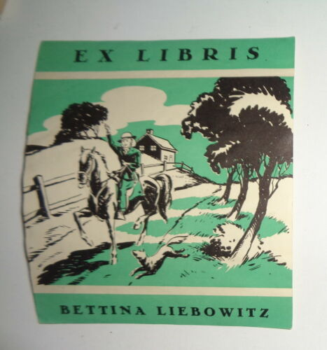 Bettina Liebowitz, Ex Libris Bookplate