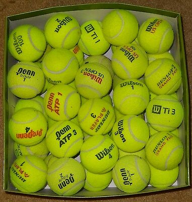 50 Used Tennis Balls mixed brands.