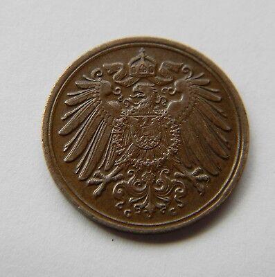 KAISERREICH: 1 Pfennig 1897 G, J. 10, prägefrisch/unc., SELTEN !!!