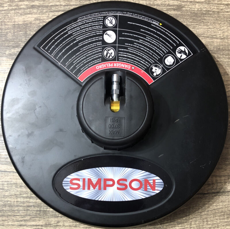 SIMPSON Cleaning 80165 Max 3700 PSI Universal 15in Steel Surface Scrubber