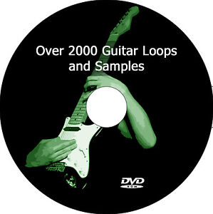Guitar Loops + Samples, 2000+ audio music producer DJ wav loop sample pack DVD