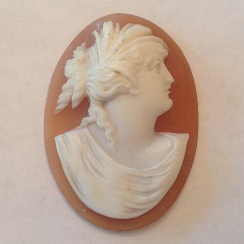Antique Victorian Unset Carved Shell Cameo - Italy