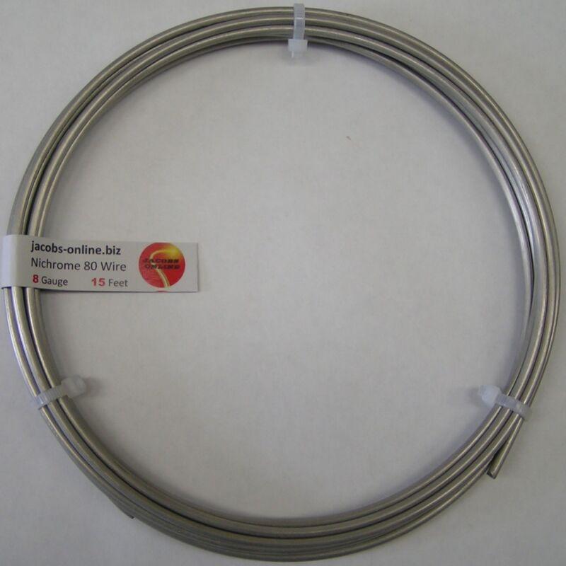 Nichrome 80 resistance wire, 8 AWG (gauge), 15 feet