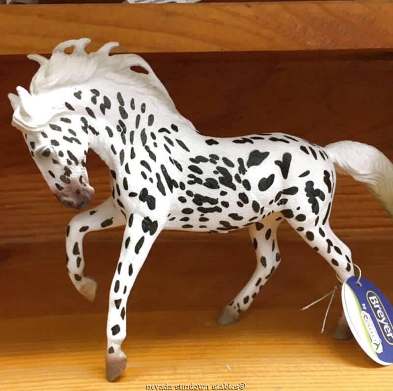Breyer Horse Collectables New Corral Black Leopard Knabstrupper Mare