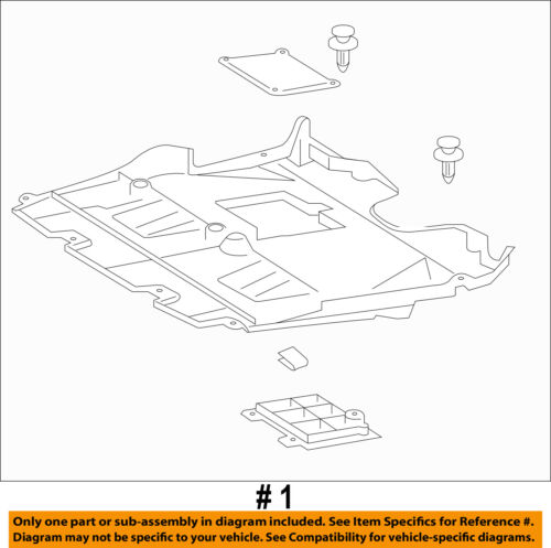 Lexus TOYOTA OEM GS350 Splash Shield-FR Under Radiator//Engine Cover 5141030090