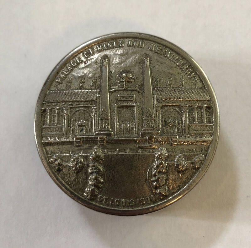 St. Louis 1904 Worlds Fair Palace of Mines and Metallurgy Folding Cup
