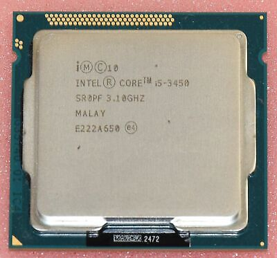 Intel Core i5-3450 SR0PF Quad Core CPU Processor 3.1GHz 6MB Smart Cache LGA 1155