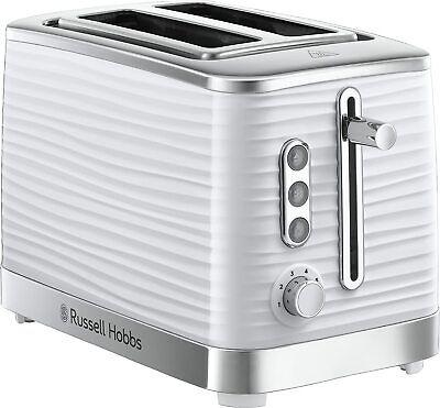 Russell Hobbs Inspire 2 Slice Toaster High Gloss Plastic White - 24370