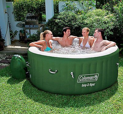Coleman Lay-Z-Spa 77″ x 28″ Inflatable Spa Portable 4-Person Hot Tub