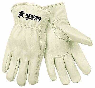 Mcr Safety 3200m Grain Cow Full Leather Driver Gloves Medium 1-pair