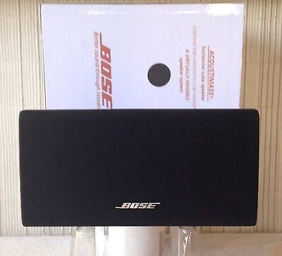 Bose Center Channel Speaker (Horizontal) Double Cube Acoustimass/Lifestyle Black