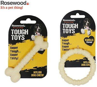 ROSEWOOD TOUGH TOYS NYLON VANILLA RING & BONE TWIN PACK NYLON DOG TREAT TOY CHEW