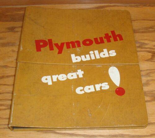 Original 1955 Plymouth Showroom Display Data Book Dealer Sales Album 55