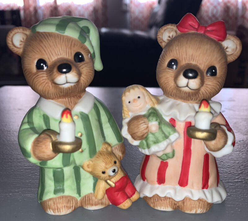 """Home Interiors & Gifts """"Bedtime Bears"""" 51022-98 