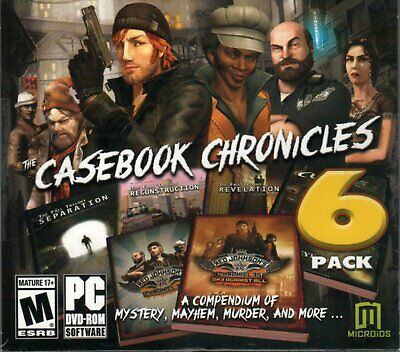 Computer Games - Casebook Chronicles 6 Pack PC Games Windows 10 8 7 XP Computer point and click