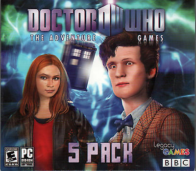 New Doctor Who The Adventure Games Episodes 1 To 5 Pc Game Dvd Rom Dr  Who
