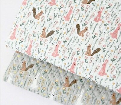 Forest animal Ready Quilted Fabric Cotton Pre-quilted padded Rabbit YARD JQ26:](Quick Animal Costumes)
