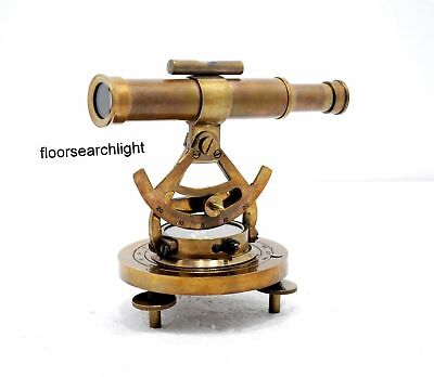 Vintage Brass Theodolite Alidade Transit Telescope Survey Instrument Compass1