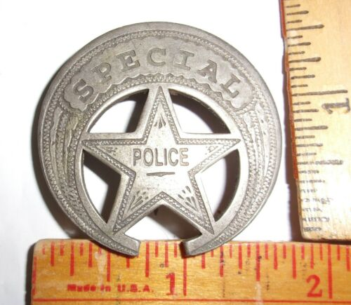 "vintage ""Special Police"" badge collectible old West cowboy Southwestern pinback"
