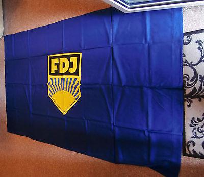 Flagge - Fahne Original - DDR Jugendorganisation 2m x 1,20m  große FDJ Fahne