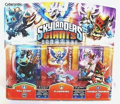 Skylanders GILL GRUNT 3-Pack Giants Set FLASHWING DOUBLE TROUBLE Figures NEW USA - $9.90