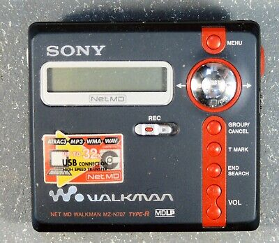 Sony Walkman MZ-N707 Portable Mini Disk Player / Recorder With Accessories