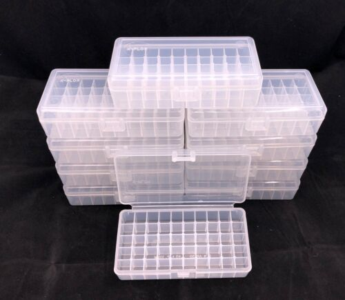 Plastic Ammo Box (Lot of 10)  50 Round, 38 Special / 357 Mag, Made in USA, MP-50
