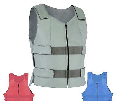 Colored Bullet Proof style Leather Motorcycle Vest bikers Club Tactical Vest Men ()