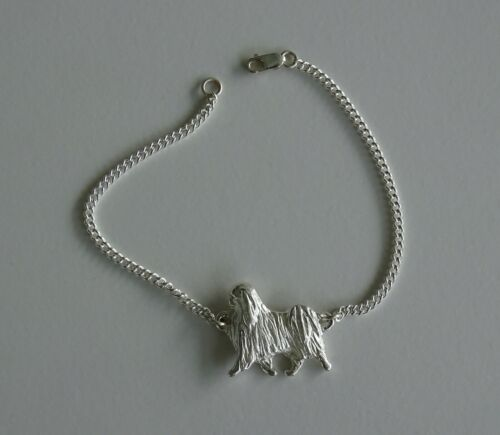 Small Sterling Silver Japanese Chin Moving Study Bracelet