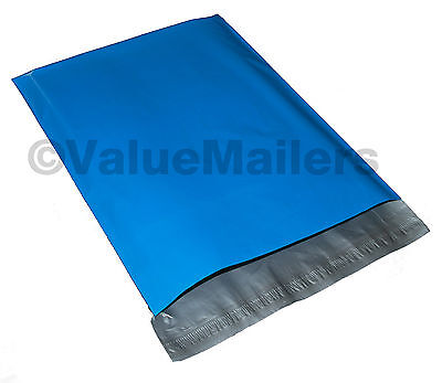 100 12x15.5 Blue Poly Mailers Shipping Envelopes Couture Boutique Quality Bags