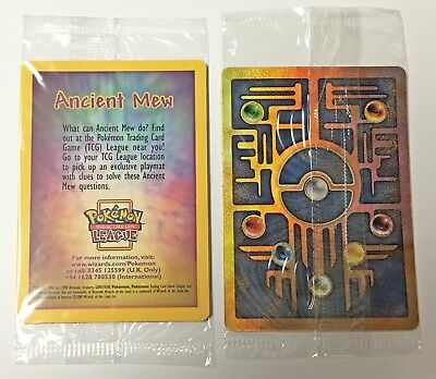 Pokemon Card - SEALED Ancient Mew - Pokemon Movie - Black Star Promo