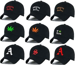Casual-Baseball-Cap-Cocaine-Caviar-Ganja-Weed-caps-adjustable-Snapback-letter-A