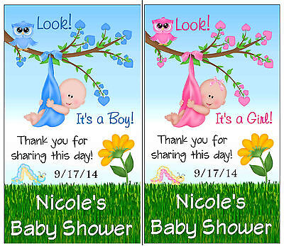 12 IT'S A BOY OR IT'S A GIRL OWL BABY SHOWER FAVORS MAGNETS - Owl Boy Baby Shower